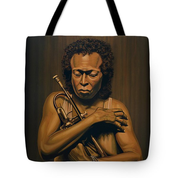 Miles Davis Painting Tote Bag