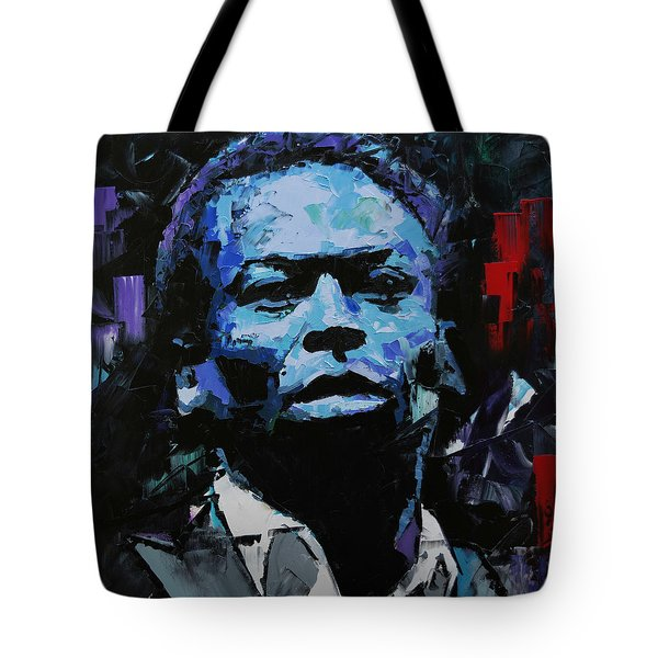 Tote Bag featuring the painting Miles Davis by Richard Day
