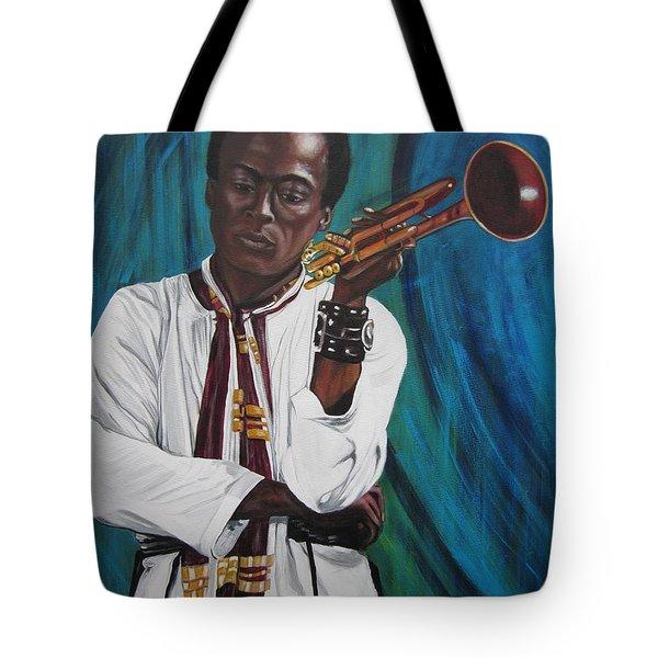 Blaa Kattproduksjoner     Miles-in A Really Cool White Shirt Tote Bag