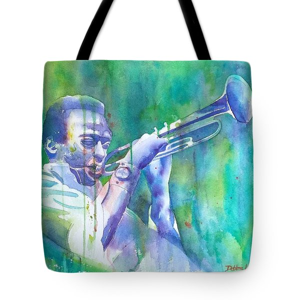 Tote Bag featuring the painting Miles Is Cool by Debbie Lewis