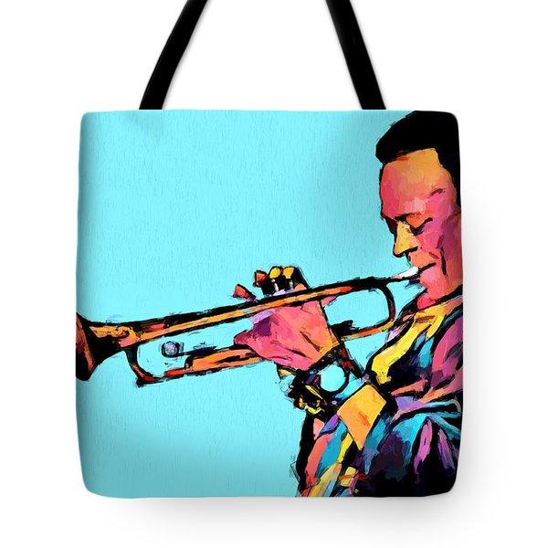 Miles Plays Again Tote Bag