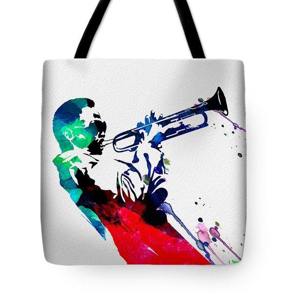 Miles Watercolor Tote Bag