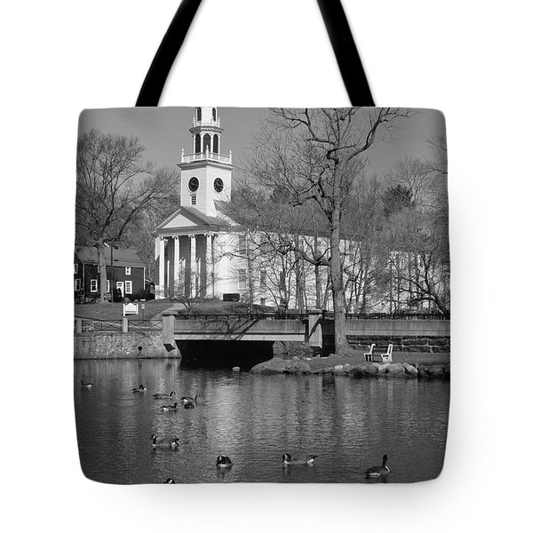 Milford Congregational Church Bw Tote Bag