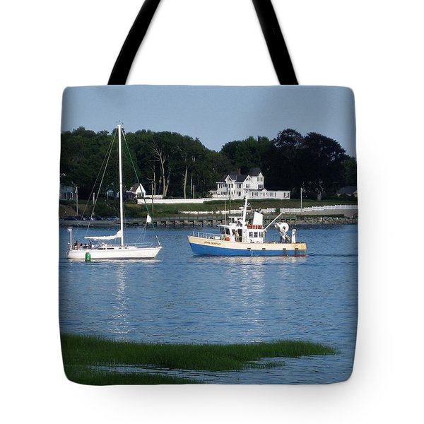 Milford Harbor  Tote Bag