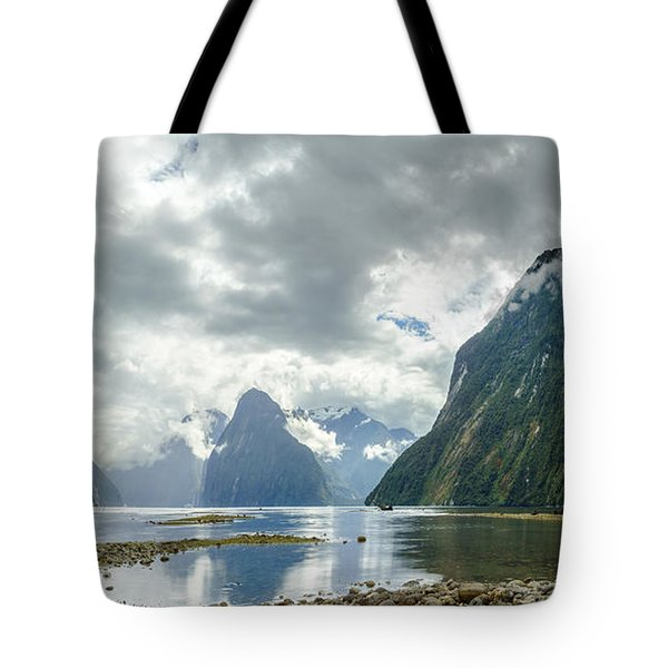 Milford Sound Panorama Tote Bag