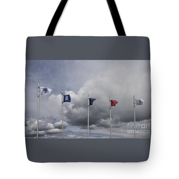 Military Branch Flags Tote Bag