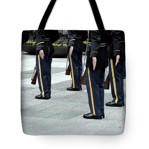 Military Formation Tote Bag by Karol Livote