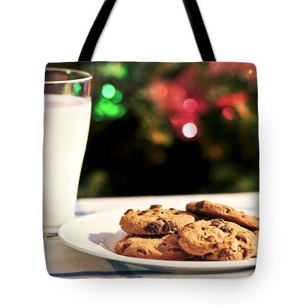 Milk And Cookies For Santa Tote Bag