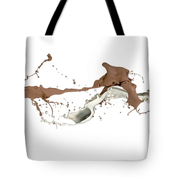 Milk And Liquid Chocolate Splash Tote Bag