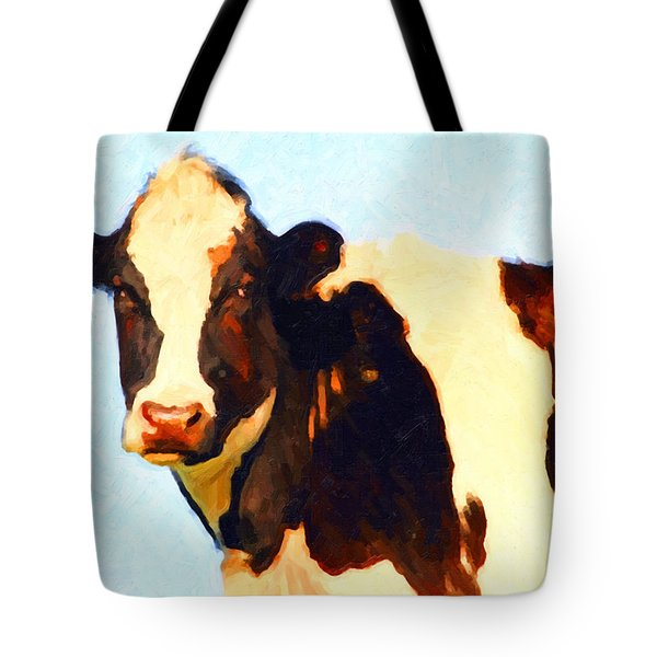 Milk Cow . Photoart Tote Bag by Wingsdomain Art and Photography