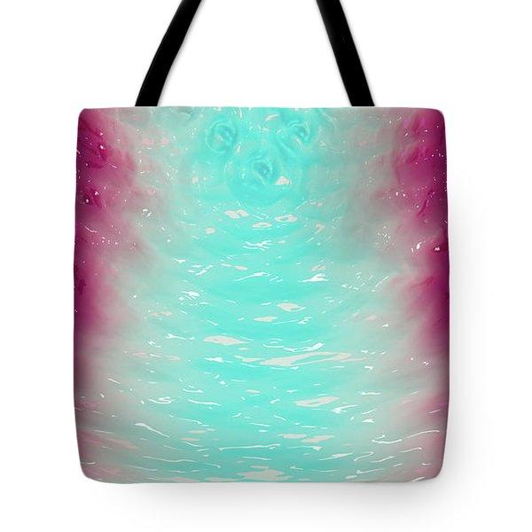 Tote Bag featuring the digital art Milk Effects No2 by Matt Lindley
