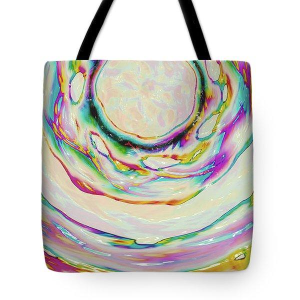 Tote Bag featuring the digital art Milk Effects No3 by Matt Lindley