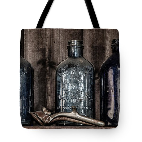 Milk Of Magnesia Bottles Tote Bag