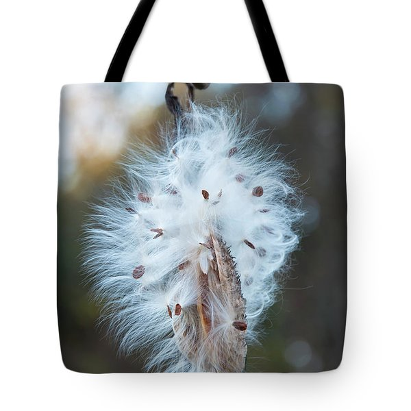 Tote Bag featuring the digital art Milkweed And Its Seeds by Chris Flees