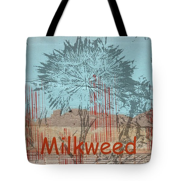 Tote Bag featuring the photograph Milkweed Collage by Cynthia Powell