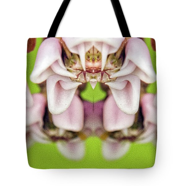 Milkweed Mirror Image Pareidolia Tote Bag