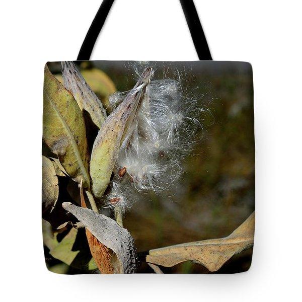 Milkweed Seeds Taking Flight Tote Bag
