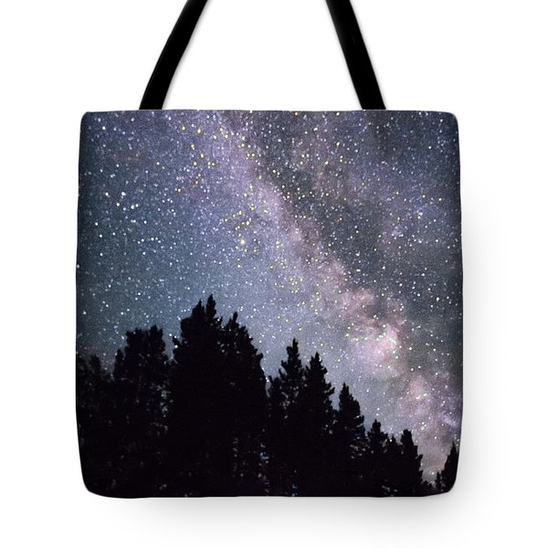 Milky Way Above The Bighorns Tote Bag