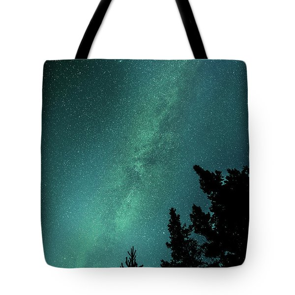 Milky Way Above The Trees Tote Bag