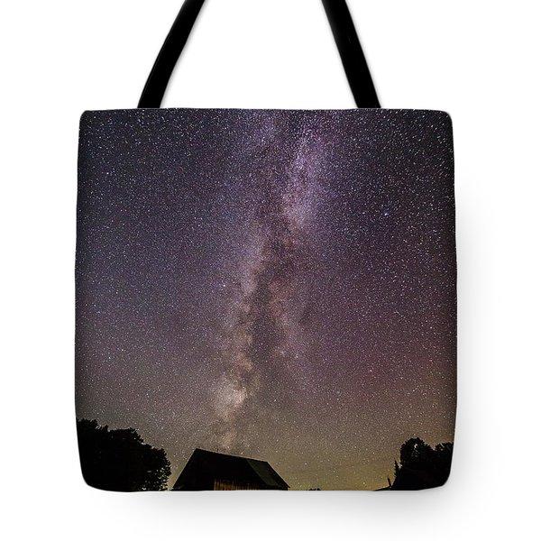 Milky Way And Barn Tote Bag