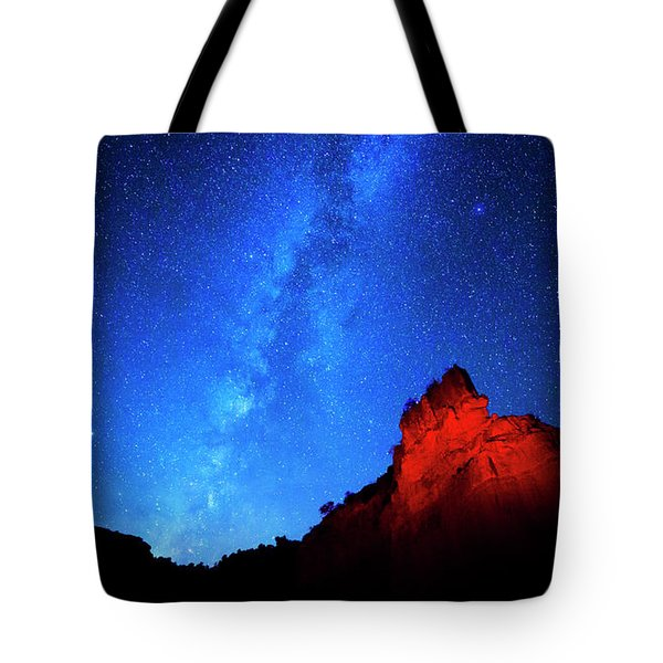 Milky Way And Caprock Tote Bag