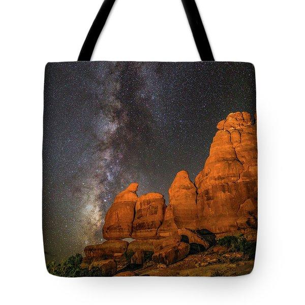 Milky Way And Navajo Rocks Tote Bag