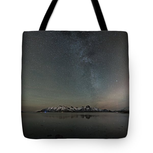 Milky Way And Northern Lights I Tote Bag