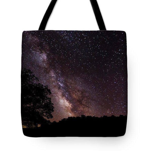 Milky Way And The Tree Tote Bag