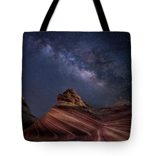 Milky Way And The Wave Tote Bag