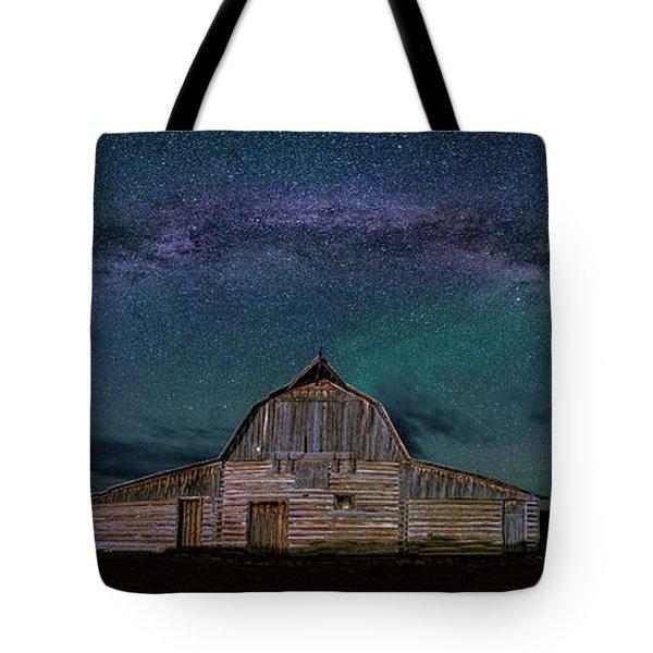 Milky Way Arch Over Moulton Barn Tote Bag