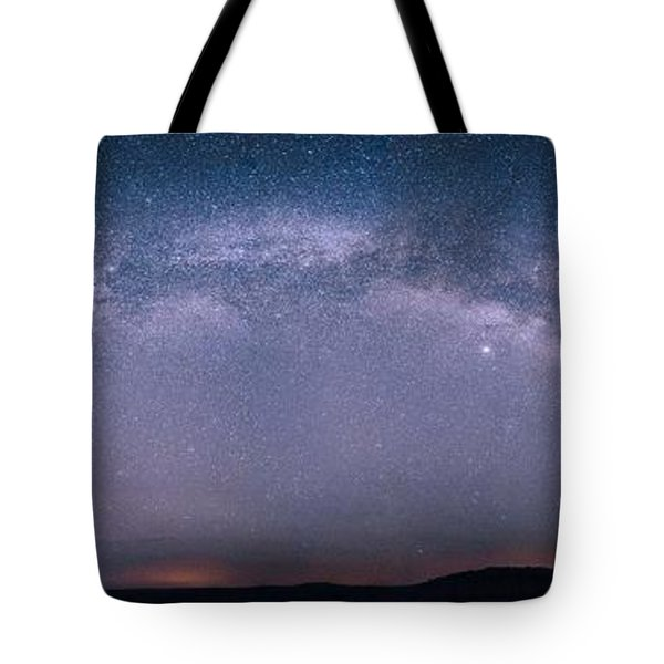 Milky Way Arch Over The Badlands Tote Bag