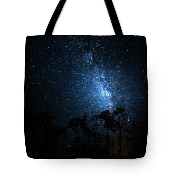 Tote Bag featuring the photograph Milky Way At Big Cypress National Preserve by Mark Andrew Thomas