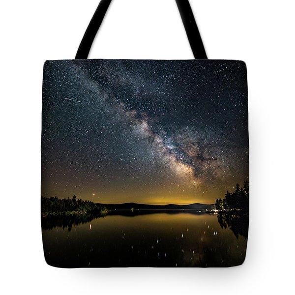 Milky Way At Hunter Cover Tote Bag