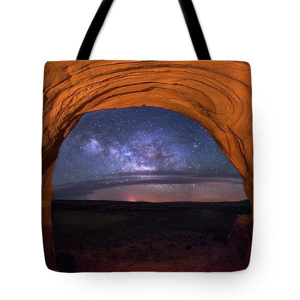 Milky Way At Looking Glass Rock Tote Bag