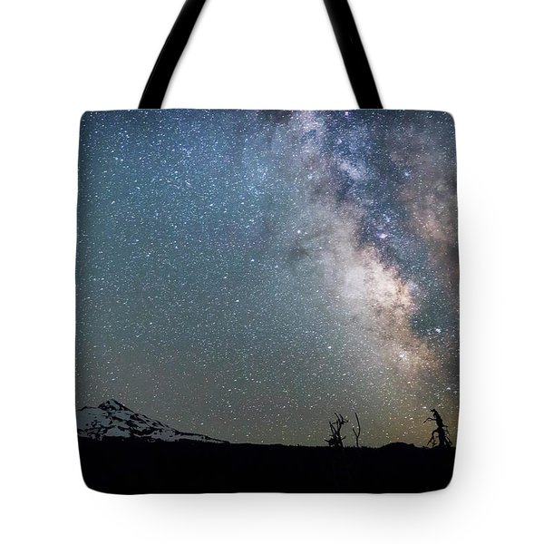 Tote Bag featuring the photograph Milky Way At Mckenzie Pass by Cat Connor