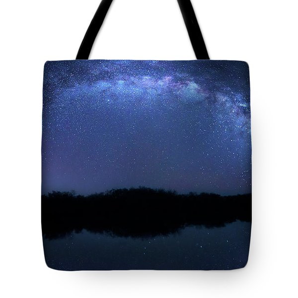 Tote Bag featuring the photograph Milky Way At Mrazek Pond by Mark Andrew Thomas