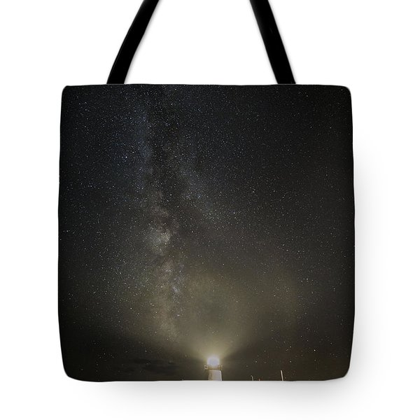 Milky Way At Pemaquid Light Tote Bag