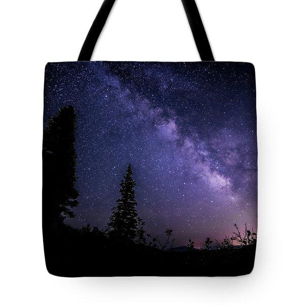Milky Way At Powder Mountain Tote Bag