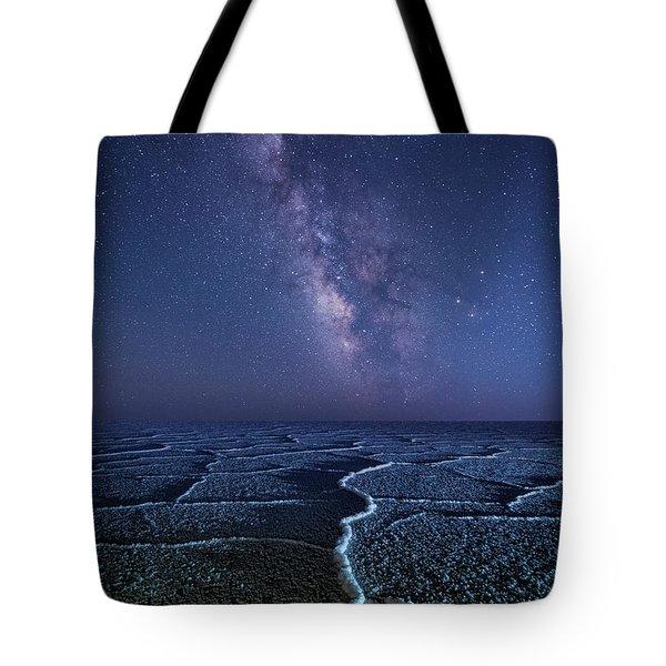 Milky Way At The Salt Flats Tote Bag