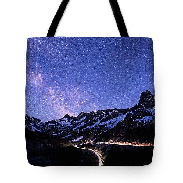 Milky Way At Washington Pass Tote Bag