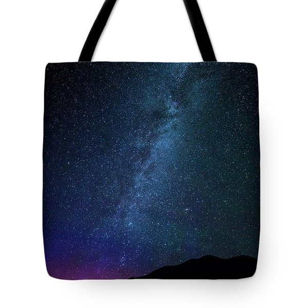 Milky Way Galaxy After Sunset Tote Bag by Dan Pearce