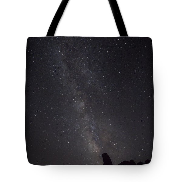 Milky Way Galaxy At Arches National Park Tote Bag
