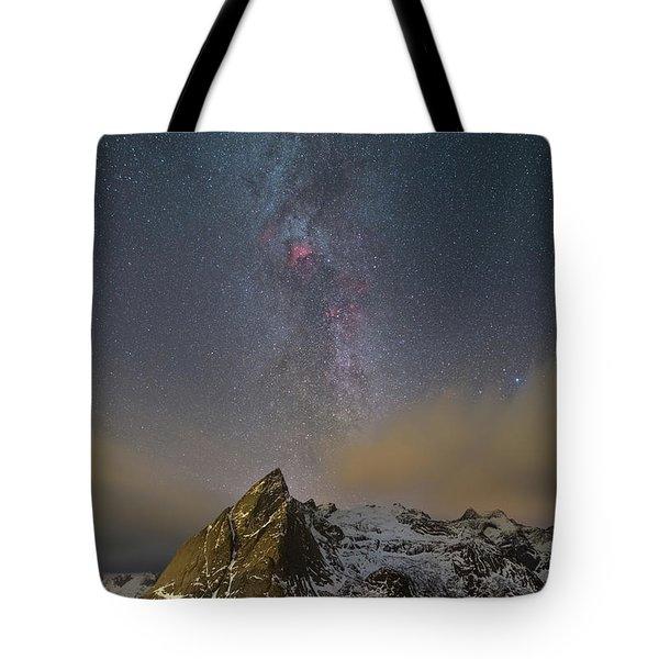 Milky Way In Lofoten Tote Bag
