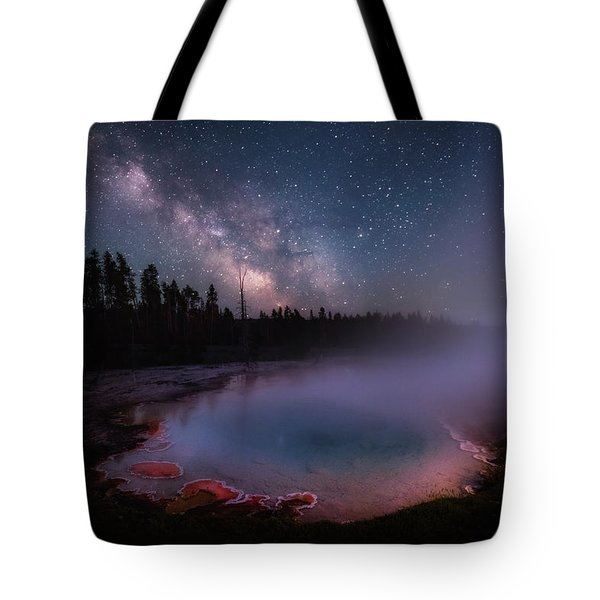 Milky Way In Yellowstone Tote Bag