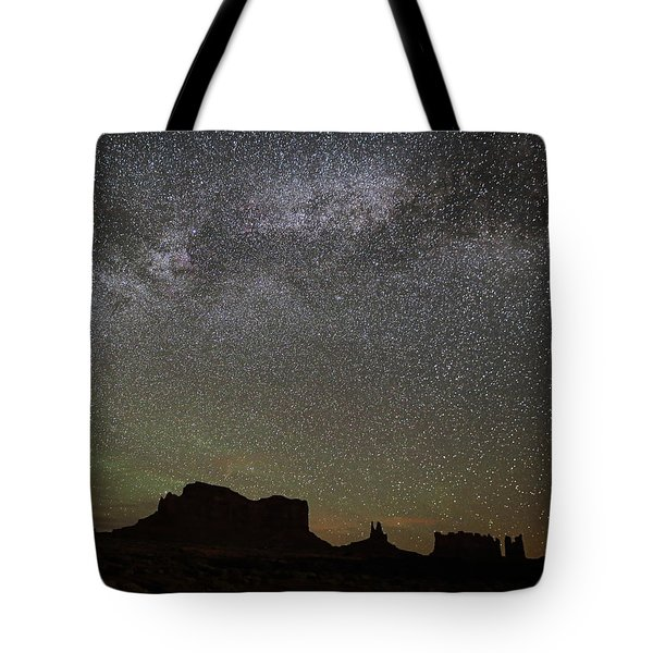 Milky Way Monuments Tote Bag