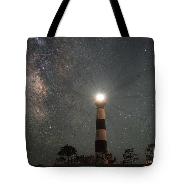 Milky Way Nightlight Tote Bag