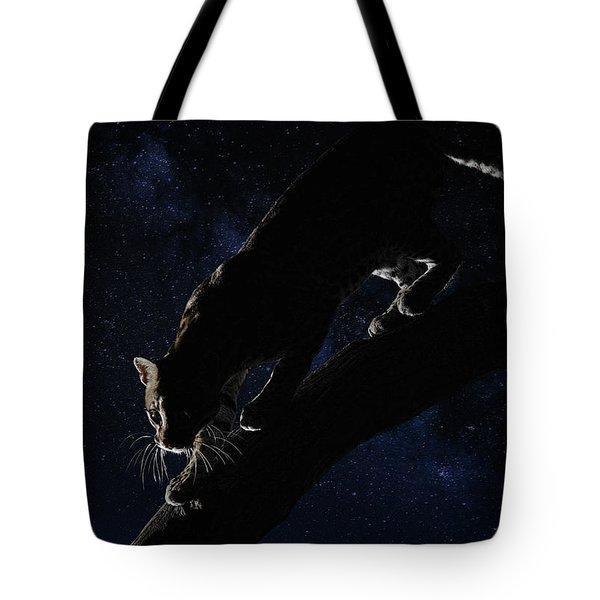 Milky Way Ocelot Tote Bag