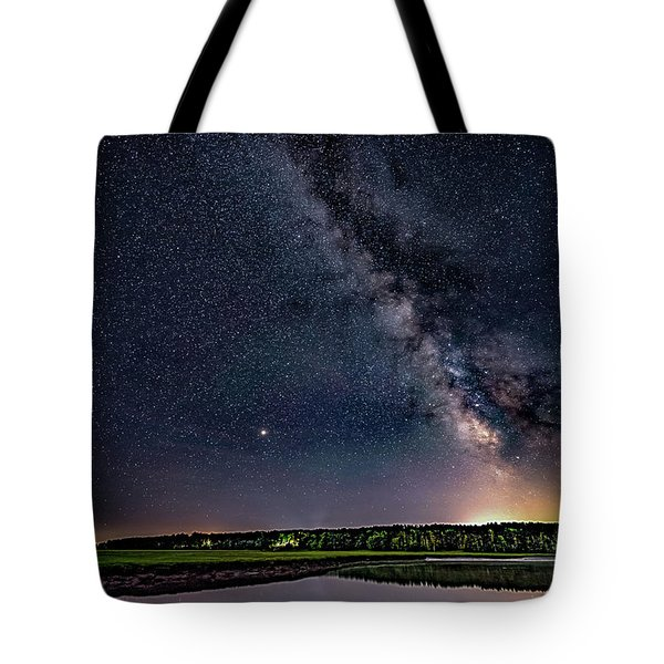 Tote Bag featuring the photograph Milky Way On The Eastern Trail by Darryl Hendricks