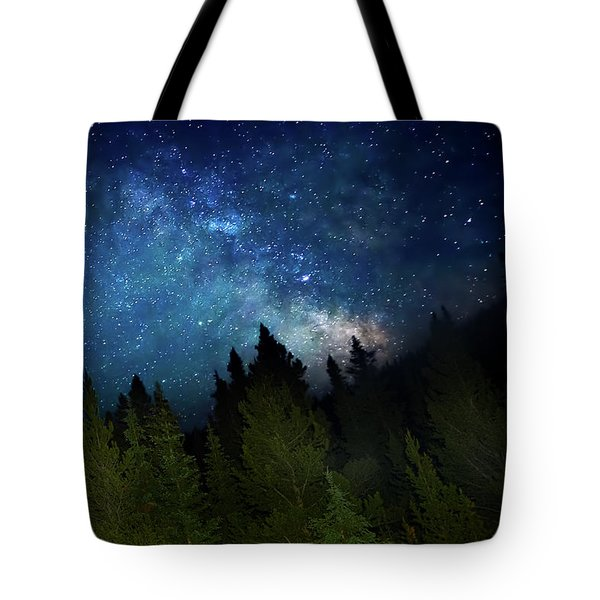 Milky Way On The Mountain Tote Bag