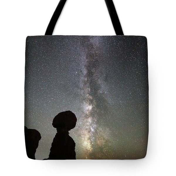 Milky Way Over Arches Np Three Tote Bag